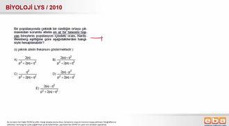 2010 LYS Biyoloji Populasyon Genetiği izle
