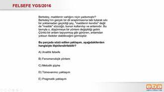 2016-YGS Analitik Felsefe izle