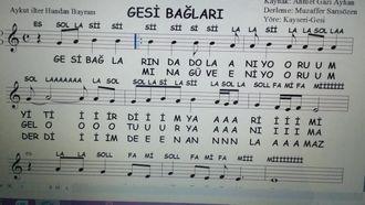 Gesi Bağları Kayseri Türküsü Blok Flüt Melodika Piyano Notası Ve Şarkı Sözü izle