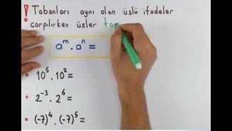 8. Sınıf Matematik Üslü İfadelerin Temel Özellikleri izle