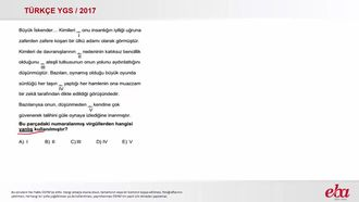 Noktalama İşaretleri /Virgül (2017 YGS-Türkçe) izle