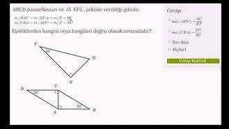 Trigonometri Fonksiyonlarıyla ve Oranlarıyla İlgili Örnek izle