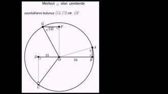Pisagor Teoremi ve Çemberlerin Yarı Çapları izle