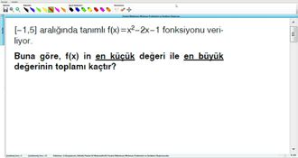 Parabol Maksimum Minimum Problemleri ve Denklem Oluşturma 6 izle
