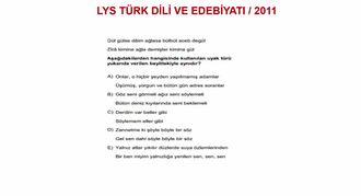2011/LYS ŞİİRİN ŞEKİL UNSURLARI (UYAK BİLGİSİ) izle