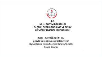 2018 - 2019 ÖĞRETİM YILI Sınavla Öğrenci Alacak Ortaöğretim Kurumlarına İlişkin... izle