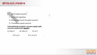 2014 LYS Biyoloji Bağışıklık Sistemi izle