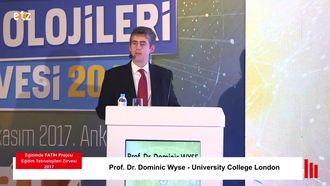 FATİH ETZ 2017 : Prof. Dr. Dominic WYSE - University College London izle