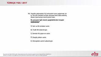 Dil Bilgisi (Karma) (2017 YGS-Türkçe) izle
