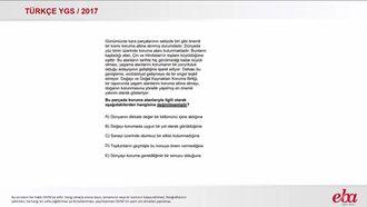 Paragrafın Yorumu (2017 YGS-Türkçe) izle