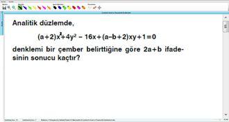 Çemberin Genel ve Parametrik Denklemleri 13 izle