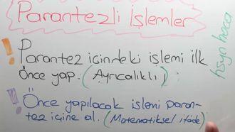 5. sınıf matematik PARANTEZLİ İŞLEMLER konu anlatımı izle