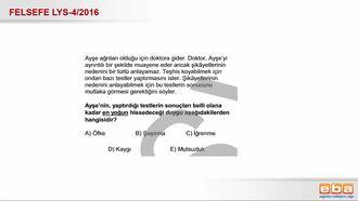 2016- LYS4 Felsefe Grubu Duygu Türleri izle