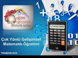 Çok Yönlü Gelişimsel Matematik Öğretimi-Trabzon Akçaabat Fevzi Paşa Ortaokulu izle