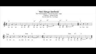 Nota Akor Eşlik - Yeni Dünya Senfonisi ( Melodika & Blok Flüt ) izle