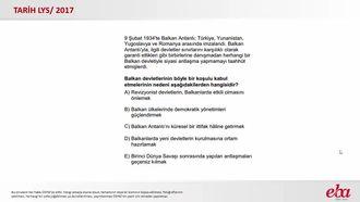 Balkan Antantı (2017 LYS-TARİH) izle