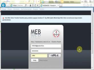 MEB Kurumsal Okul Yeni WEB Siteleri İçerik Yönetim Sistemi İstatistik İşlemleri izle