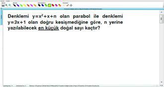 Parabolün Grafiğinin Çizimi Ve Doğru İle Parabolün Ve İki Parabolün Durumları 16 ... izle