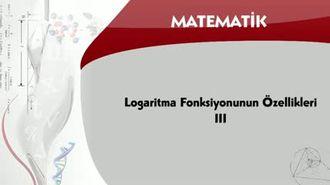 Logaritma Fonksiyonunun Özellikleri - 3 izle