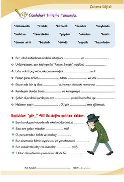 FİİLLER (A1.2)