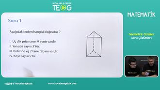 Geometrik Cisimler Soru Çözümleri izle