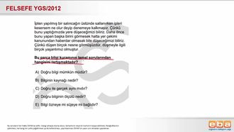 2012 YGS Bilginin Kaynağı Nedir? izle