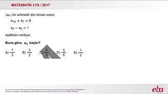 Aritmetik Dizi(2017 LYS-MATEMATİK) izle