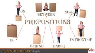 """Bu infografikte """"Prepositions of Place"""" / """"Yer Edatları"""" ele alınmıştır."""