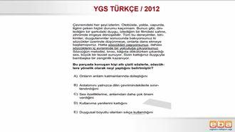 2012/ YGS SÖZCÜK VE SÖZCÜK ÖBEKLERİNDE ANLAM izle
