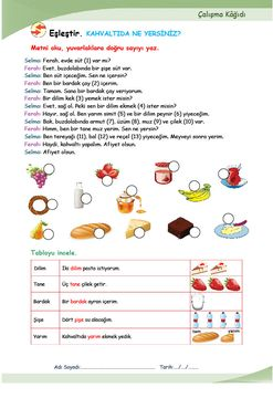 YİYECEK-İÇECEK (Kahvaltı) (A1.2)