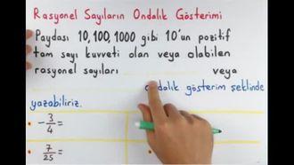 7. Sınıf Rasyonel Sayıları Ondalık Gösterim Olarak Yazma izle