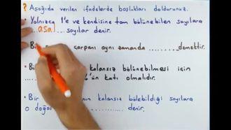 6. Sınıf Matematik 1. Dönem 1. Yazılı Hazırlık izle