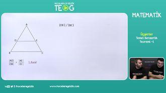 Temel Benzerlik Teoremi -1 izle