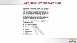 LYS 2010/CUMHURİYET DÖNEMİ ESERLERİ/TÜRK DİLİ VE EDEBİYATI izle