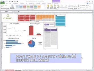 Verilerin İçinde İstenilenlere Göre Rapor Nasıl Oluşturulur? (Pivot Tablede Dilimley... izle
