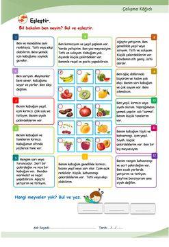 YİYECEK-İÇECEK (Meyveler) (A1.2)