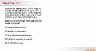 2012-LYS3- Paragrafta Yer Almayan Anlam izle