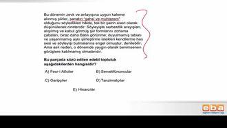 Batı Etkisinde Gelişen Türk Edebiyatı (Fecr-i Âti) izle