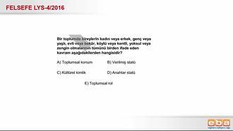 2016 LYS-4 Toplumsal Konum izle