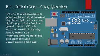 6 - B.1. Arduino Dijital Giriş - Çıkış İşlemleri izle
