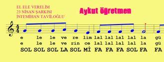 El Ele Verelim Güneşe Erelim 23 Nisan Şarkısı Şarkının Notası Blok Flüt Melodika... izle