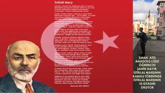 İstiklal Marşımızın 10 Kıtasını  Öğrenci Okuyor izle