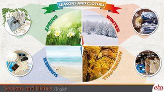 Bu infografikte Seasons and Clothes konusu ele alınmıştır.