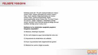 2016 YGS- Epiktetos'un Ahlak Anlayışı izle