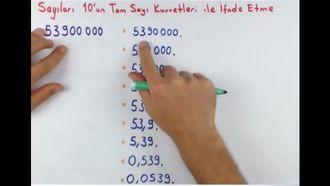 8. Sınıf Matematik Bilimsel Gösterim izle