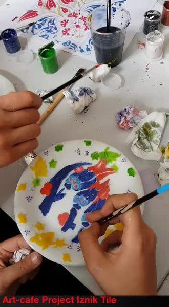 Uluslararası eTwinning projemiz Art-cafe İznik çinisi çalışmalarımız izle