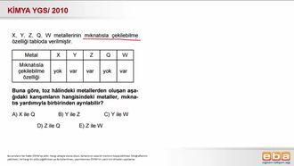 2010 YGS- Karışımları Ayırma Yöntemleri( Mıknatısla Çekilebilme Özelliği) izle