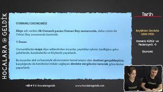 Osmanlı Kültür ve Medeniyeti -5 / Ekonomi izle