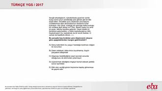 Paragrafın Sonuç Cümlesi (2017 YGS- Türkçe) izle