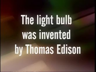 The light bulb was invented by Thomas Edison izle